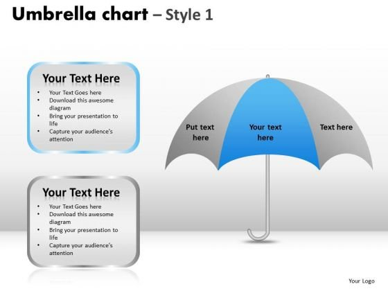 PowerPoint Backgrounds Sales Umbrella Chart Ppt Themes