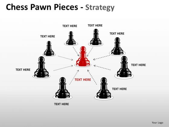 PowerPoint Backgrounds Strategy Chess Pawn Ppt Themes