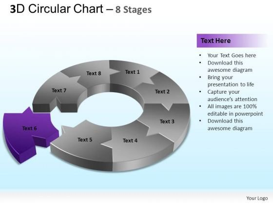 PowerPoint Backgrounds Strategy Circular Chart Ppt Template