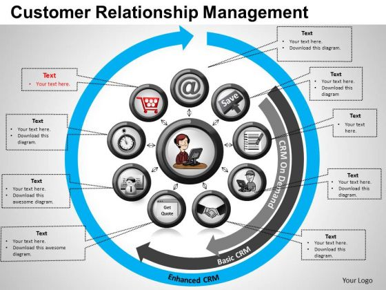 PowerPoint Backgrounds Strategy Customer Relationship Ppt Process
