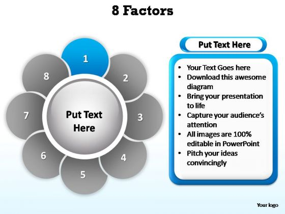 PowerPoint Backgrounds Strategy Factors Ppt Slides
