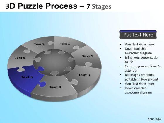 PowerPoint Backgrounds Strategy Jigsaw Pie Chart Ppt Design