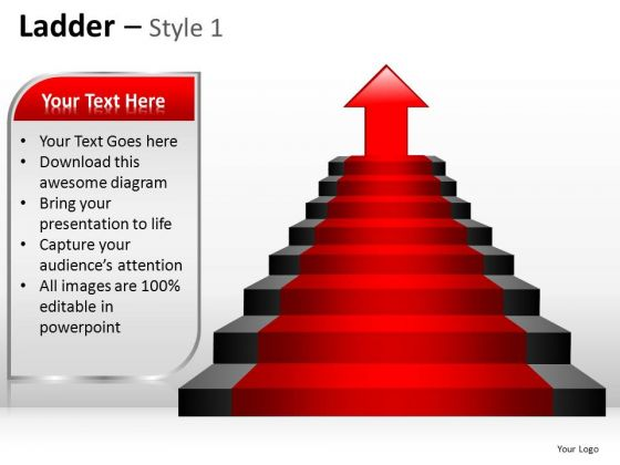 PowerPoint Backgrounds Strategy Ladder Ppt Design Slides