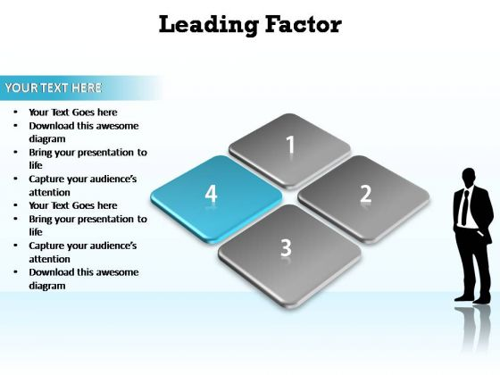 PowerPoint Backgrounds Strategy Leading Factor Ppt Theme
