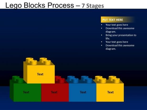 PowerPoint Backgrounds Strategy Lego Blocks Ppt Theme