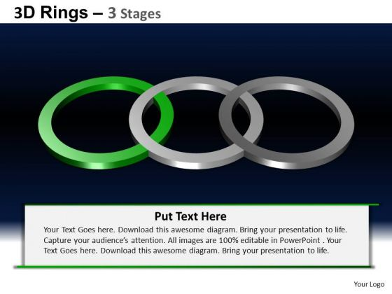 PowerPoint Backgrounds Strategy Rings Ppt Template