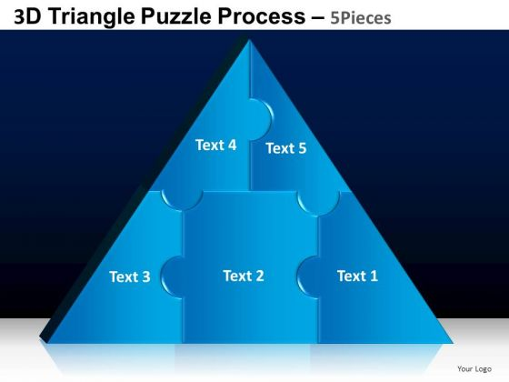 PowerPoint Backgrounds Strategy Triangle Puzzle Ppt Presentation