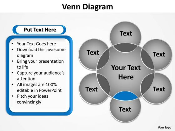 PowerPoint Backgrounds Strategy Venn Diagram Ppt Template