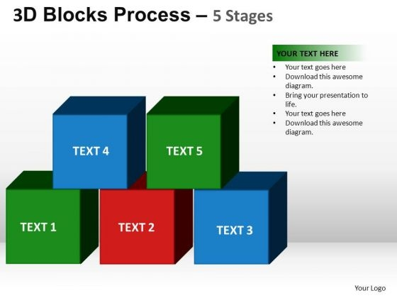 PowerPoint Backgrounds Success Blocks Process Ppt Slides
