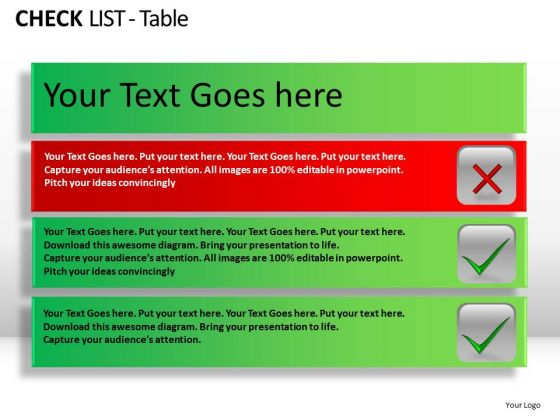PowerPoint Backgrounds Success Check List Table Ppt Layouts