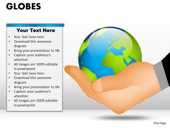 PowerPoint Backgrounds Success Globes Ppt Backgrounds