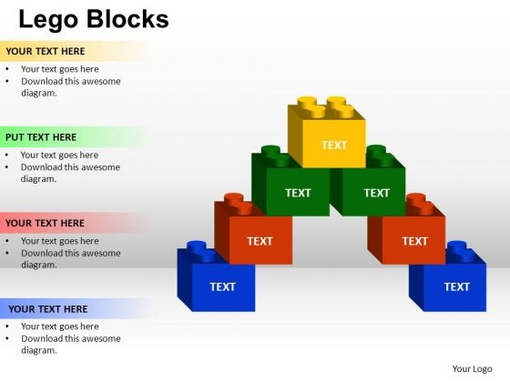 PowerPoint Backgrounds Success Lego Ppt Design