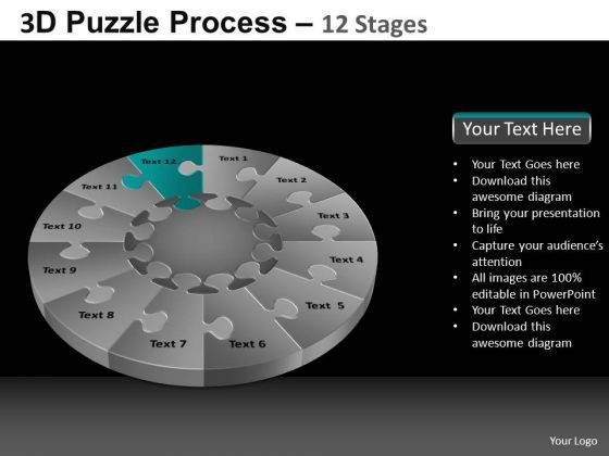 PowerPoint Backgrounds Success Puzzle Process Ppt Slide
