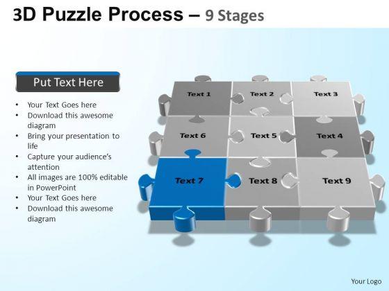PowerPoint Backgrounds Success Puzzle Process Ppt Templates