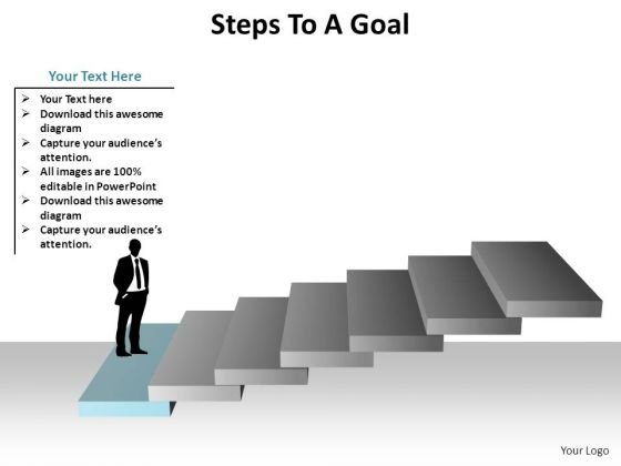 PowerPoint Backgrounds Success Steps To A Goal Ppt Theme