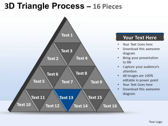 PowerPoint Backgrounds Success Triangle Process Ppt Template