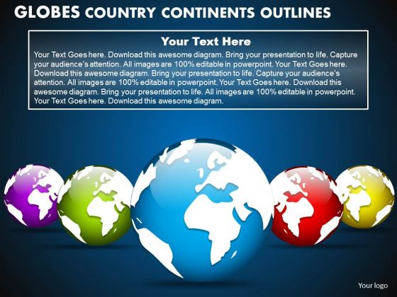 PowerPoint Backgrounds Teamwork Globes Country Ppt Design Slides