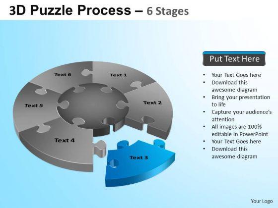 PowerPoint Backgrounds Teamwork Jigsaw Pie Chart Ppt Theme