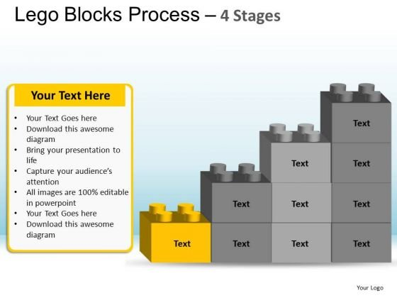 PowerPoint Backgrounds Teamwork Lego Blocks Ppt Template