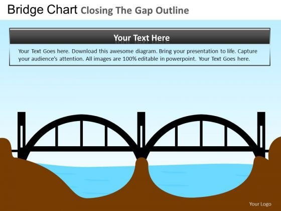 PowerPoint Bridge Duagram Business Closing Gap Ppt Design
