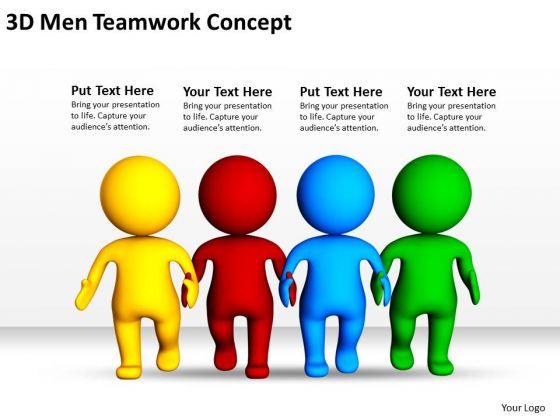 PowerPoint Business 3d Men Teamwork Concept Templates Backgrounds For Slides