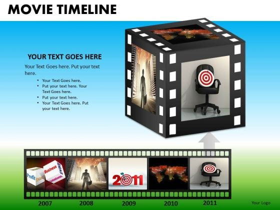 PowerPoint Business Cinema Movie Timeline Ppt Slide