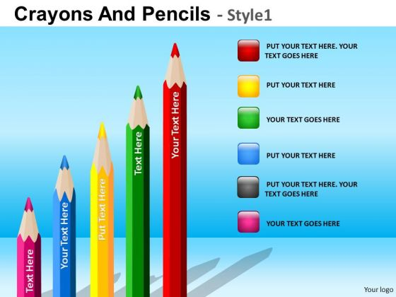 PowerPoint Business Education Growth Steps Pencils Ppt Slides