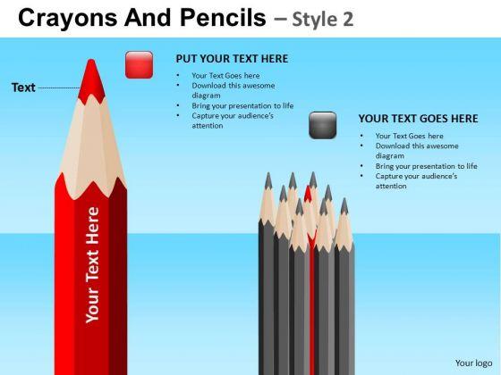 PowerPoint Business Education Leadership Sharpest Pencil Pack Ppt Slides