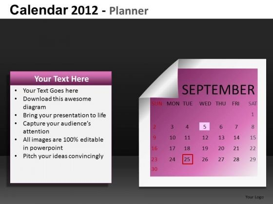 PowerPoint Calendar September 2012