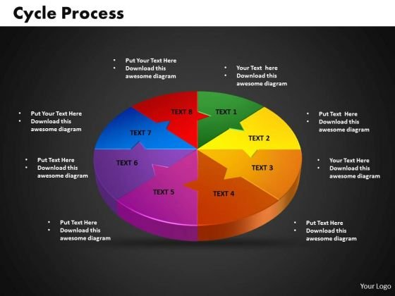 PowerPoint Cycle Process Diagram Ppt Backgrounds