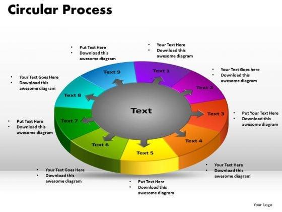 PowerPoint Design Arrows Circular Process Company Ppt Template