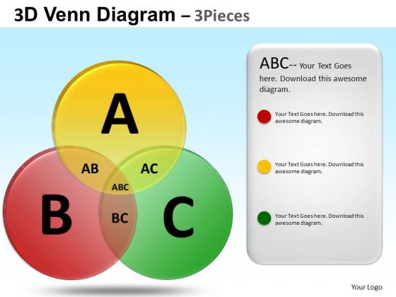 PowerPoint Design Business Competition Venn Diagram Ppt Slides
