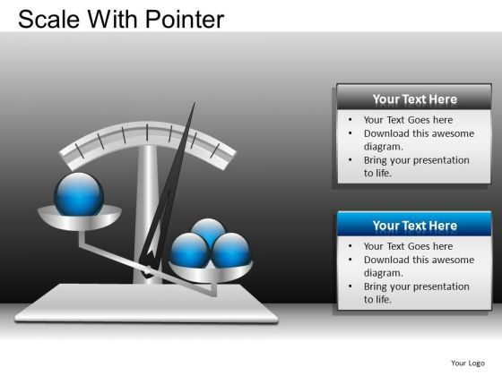 PowerPoint Design Business Education Scale With Pointer Ppt Design Slides