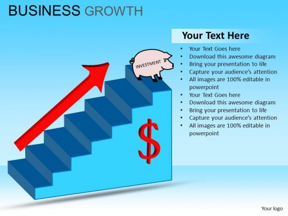 PowerPoint Design Business Growth Corporate Leadership Ppt Theme