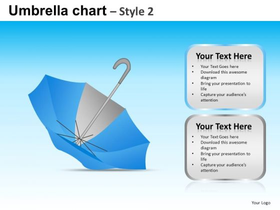 PowerPoint Design Business Leadership Targets Umbrella Chart Ppt Slide