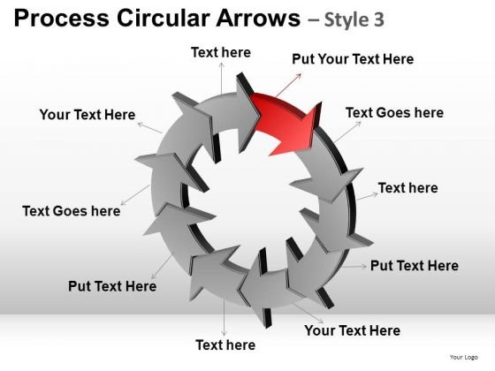 PowerPoint Design Business Success Process Circular Arrows Ppt Slides