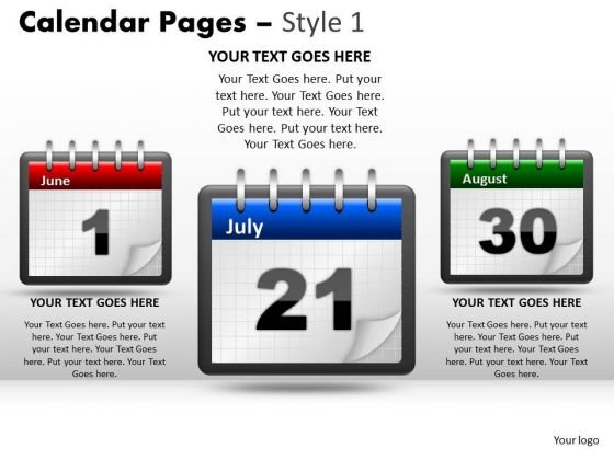 PowerPoint Design Calendar 21 July Leadership Ppt Backgrounds