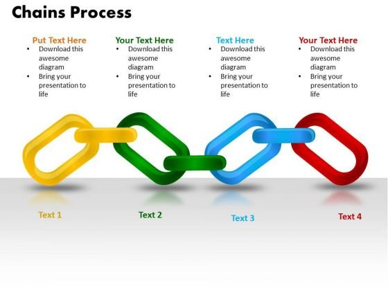 PowerPoint Design Chains Process Teamwork Ppt Backgrounds