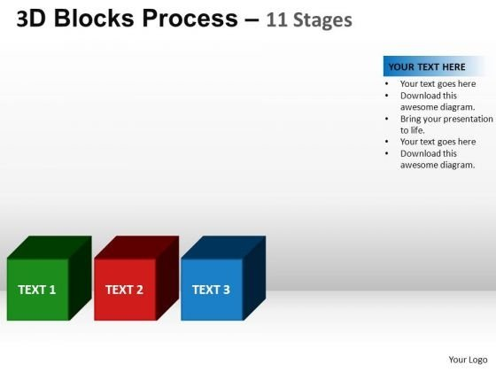 PowerPoint Design Chart Blocks Process Ppt Template