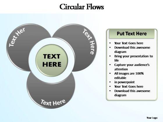 PowerPoint Design Chart Circular Flow Ppt Backgrounds