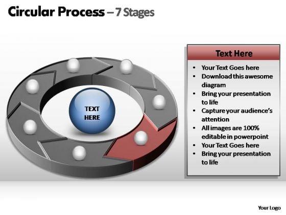 PowerPoint Design Chart Circular Process Ppt Template