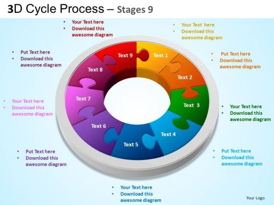 powerpoint design chart cycle process flow ppt template, Modern powerpoint