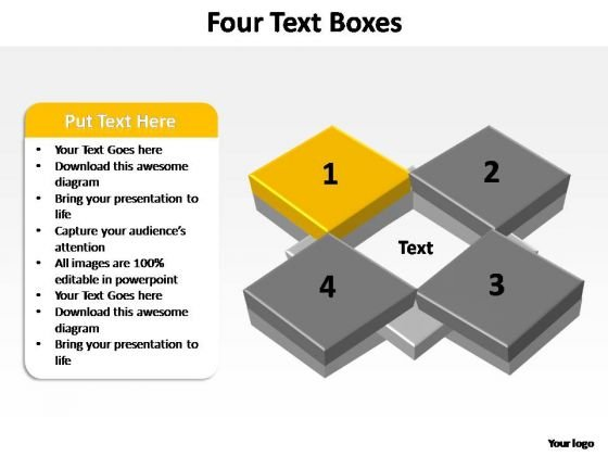 PowerPoint Design Chart Four Concepts Ppt Layouts