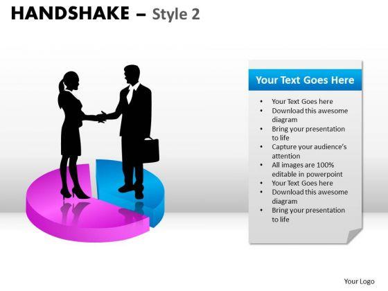 PowerPoint Design Chart Handshake Ppt Slides