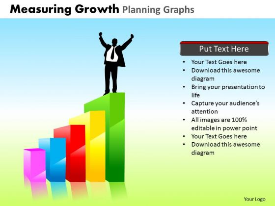 PowerPoint Design Chart Measuring Growth Ppt Template