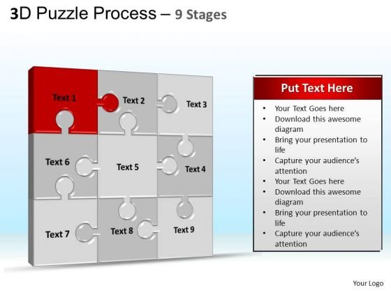 PowerPoint Design Chart Puzzle Process Ppt Backgrounds