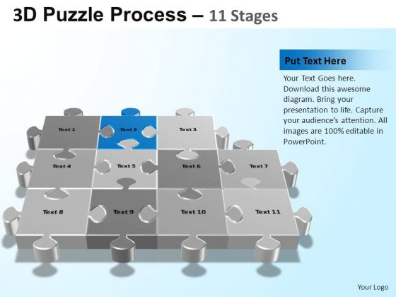 PowerPoint Design Chart Puzzle Process Ppt Presentation