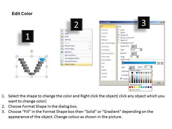 Powerpoint Design Chart V Diagram Ppt Slide Powerpoint Templates