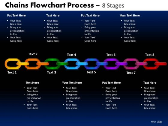 PowerPoint Design Circle Chart Chains Flowchart Ppt Process