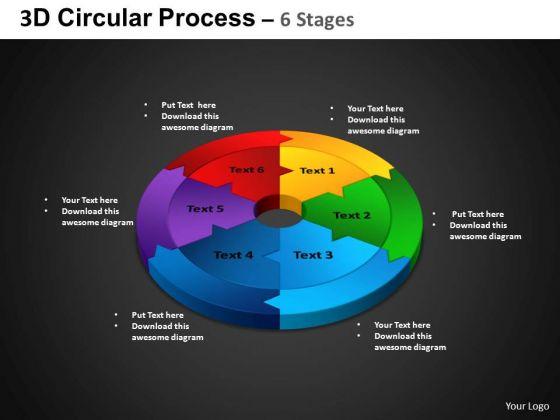 PowerPoint Design Circle Chart Circular Process Ppt Templates